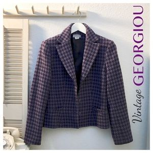 Vintage Georgiou Studio Houndstooth Suit Jacket 6